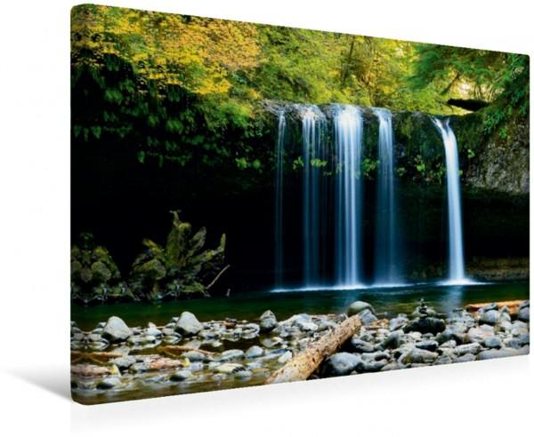 Wandbild Wasserfall im Dschungel von Brasilien
