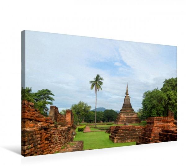 Wandbild Blick in den Geschichtspark Tempelruinen in Sukhothai Tempelruinen in Sukhothai