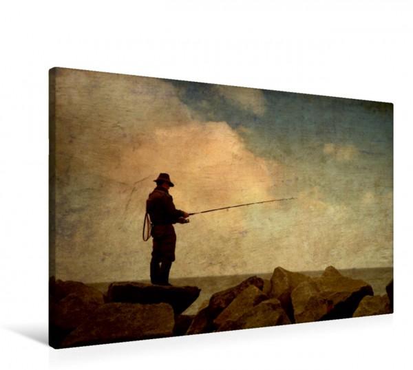 Wandbild Der nostalgische Angler Ein Stillleben der besonderen Art Ein Stillleben der besonderen Art