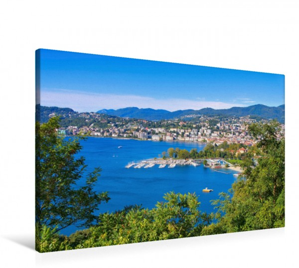 Wandbild Lugano Luganer See Luganer See