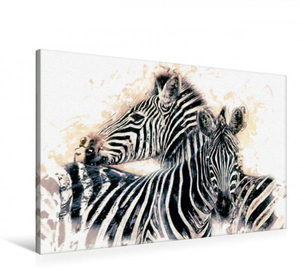 Wandbild Zebras