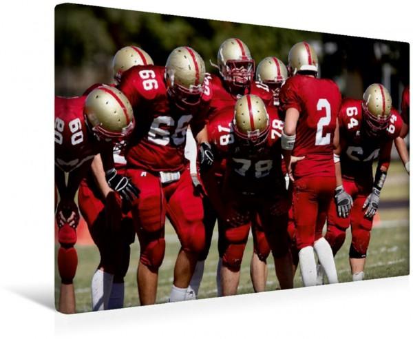 Wandbild American Football - Team Vorbereitung Szene aus der Welt des American Football Szene aus der Welt des American Football
