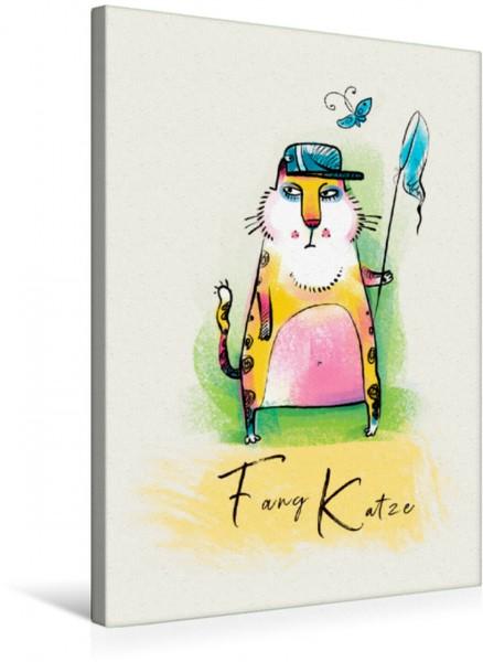 Wandbild Fang Katze