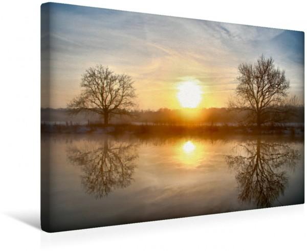 Wandbild Mystische Momente - Nebelstimmungen an der Ruhr Sonnenaufgang zwischen den Bäumen Sonnenaufgang zwischen den Bäumen