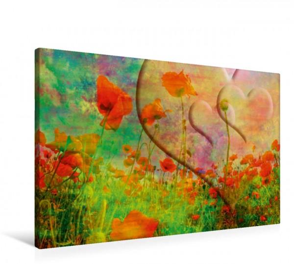 Wandbild FANTASIEWELT Mohnblumenwiese mit Herzen II Bezaubernde Natur Bezaubernde Natur