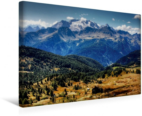 Wandbild Marmolada von der Pralongia Alpe - Alta Badia