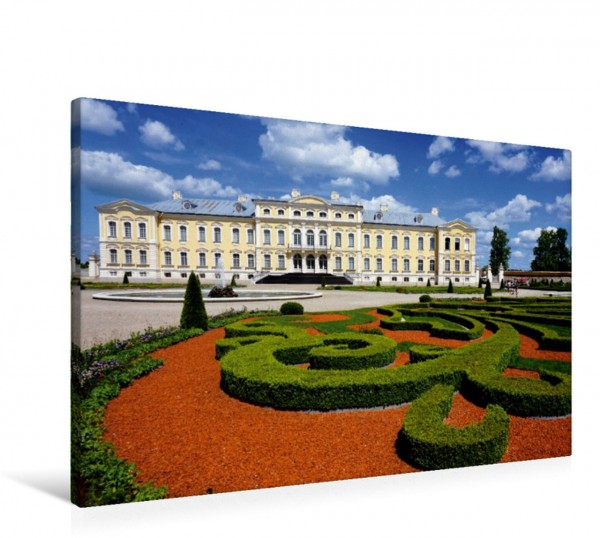 Wandbild Schloss Ruhenthal Rundale - Das Versailles des Baltikums