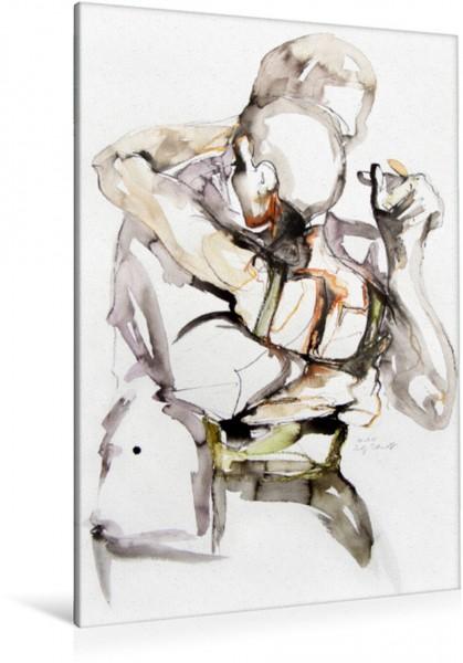 Wandbild Tangopaar N°12, Zeichnung in Mischtechnik Tangokunst von Evelyn Schmidt Tangokunst von Evelyn Schmidt