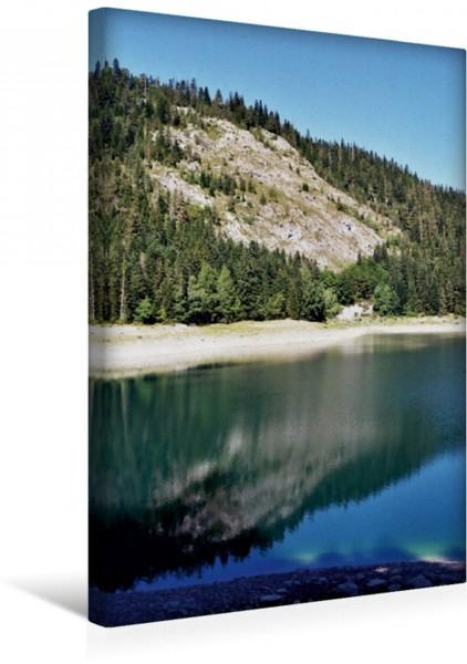 Wandbild Schwarze Berge - Schwarzes Wasser Der Crno Jezero in Montenegro Der Crno Jezero in Montenegro