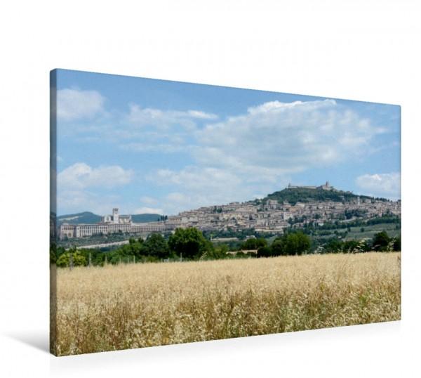 Wandbild Blick auf Assisi