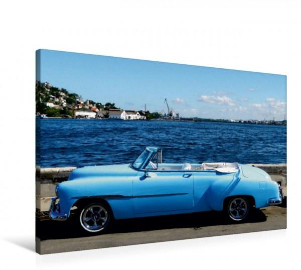 Wandbild Oldtimer HAVANA BLUE - Oldtimer auf Kuba Leinwandbild