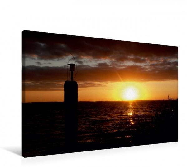 Wandbild Abendliche Momente - Sonnenuntergänge am Achterwasser