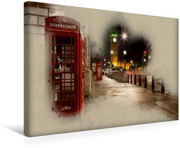 Wandbild Nacht in London Big Ben