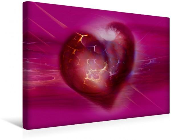 Wandbild Das pinke Herz