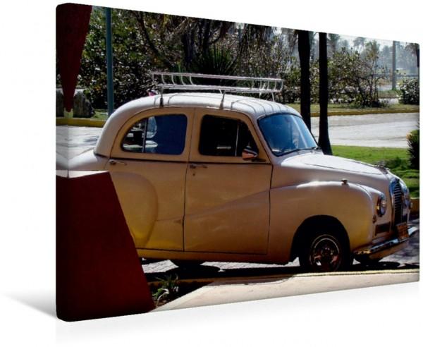 Wandbild Der britische Oldtimer Austin A 40 Somerset auf Kuba