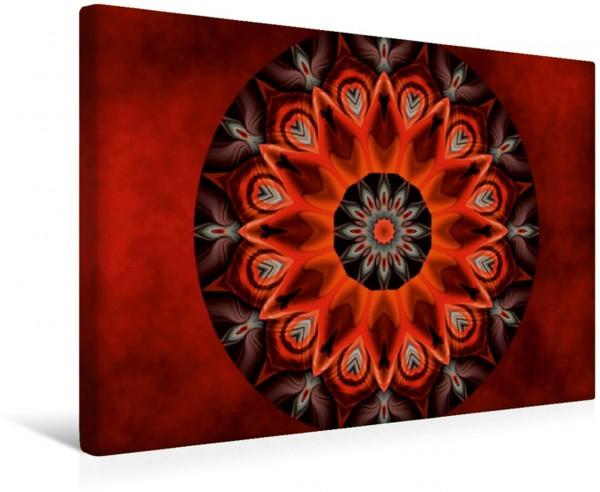 Wandbild Mandala glühende Leidenschaft