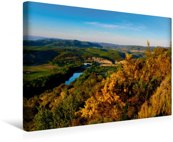 Wandbild Blick vom Mont Sampzon
