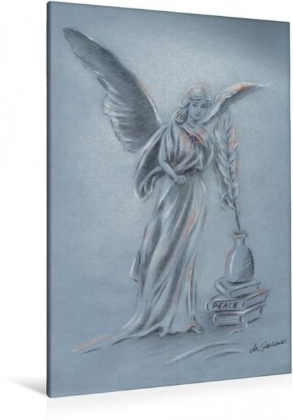 """Wandbild Engel des Friedens Dieses handgezeichnete Engelbild soll Licht Liebe und Frieden auf die Erde bringen: """"Weltfrieden kann erlangt werden wenn die Macht der Liebe die Liebe zur Macht ersetzt."""""""