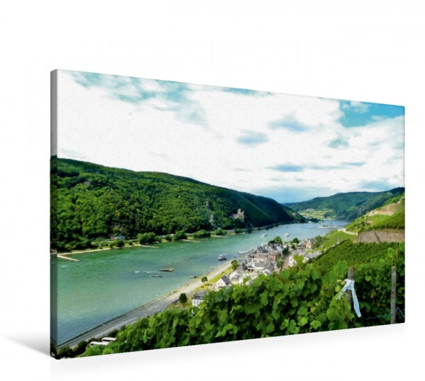 Wandbild Burg Rheinstein Weiter Blick über die Rheinlandschaft Weiter Blick über die Rheinlandschaft