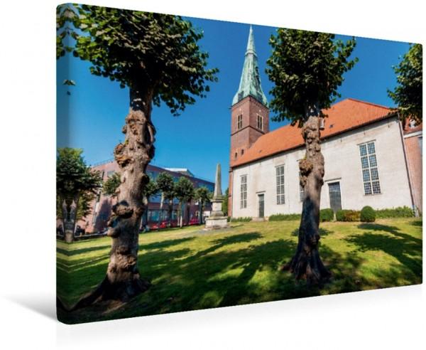 Wandbild Die Stadtkirche in der Innenstadt von Delmenhorst