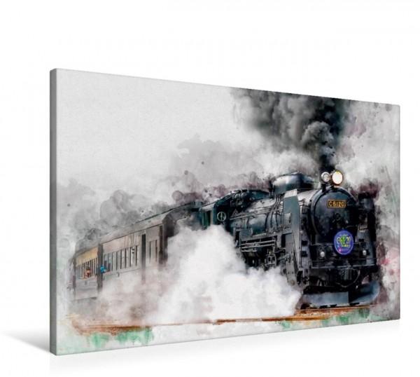 Wandbild Dampflokomotive Akita Komachi C6120 Akita Japan Akita Komachi C6120 Akita Japan