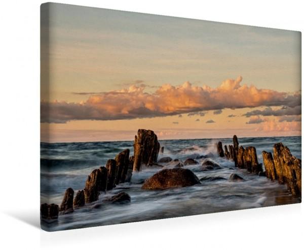 Wandbild Buhnen an der Ostseeküste Buhnen an der Küste der Ostsee Buhnen an der Küste der Ostsee