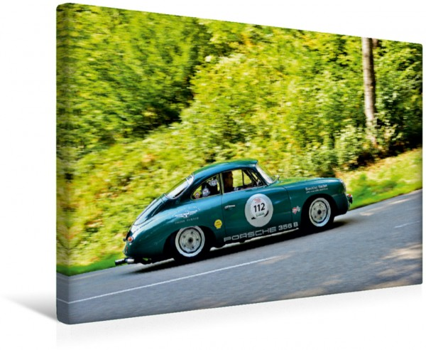 Wandbild Porsche Oldtimer - EGGBERG KLASSIK - Der Berg ruft