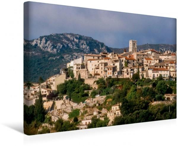 Wandbild St Jeannet in den Bergen der Alpes-Maritimes oberhalb von Nizza