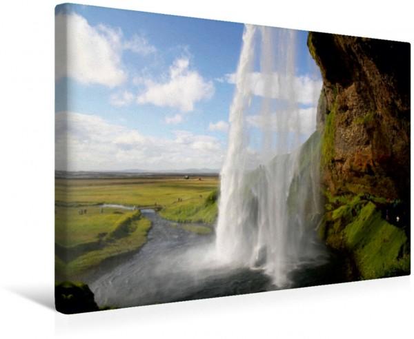 Wandbild Wasser Wasserfall auf Island Seljalandsfoss Leinwandbild