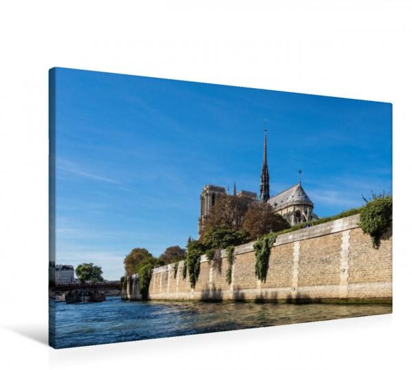 Wandbild Blick auf die Kathedrale Notre-Dame in Paris, Frankreich.