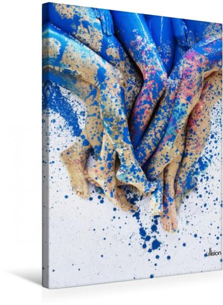 Wandbild Farbspiele - Akt im Rausch der Farben
