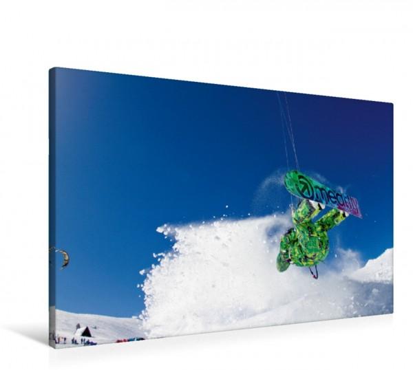 Wandbild Snowkiting
