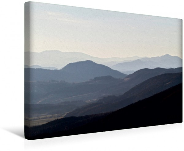 Wandbild Nebelberge - Zauberhafte Bergwelten