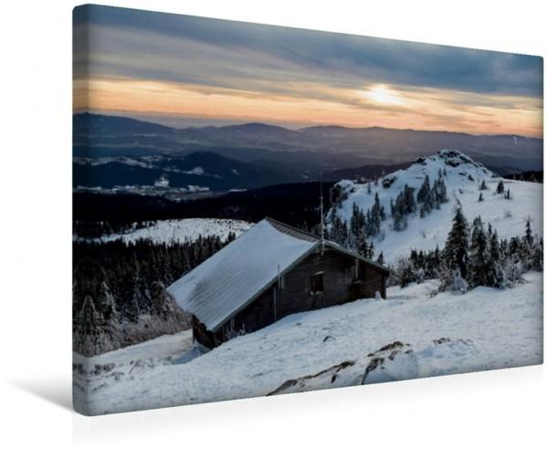 Wandbild Winterlandschaft Bayerischer Wald Idyllische Winterlandschaft im Bayerischen Wald Idyllische Winterlandschaft im Bayerischen Wald