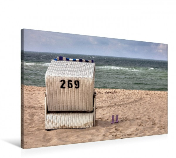 Wandbild Strandkorb auf Sylt