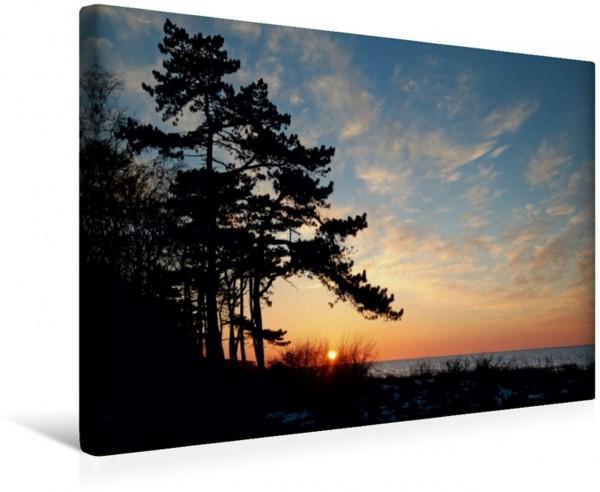 Wandbild Sonnenuntergang im Frühling