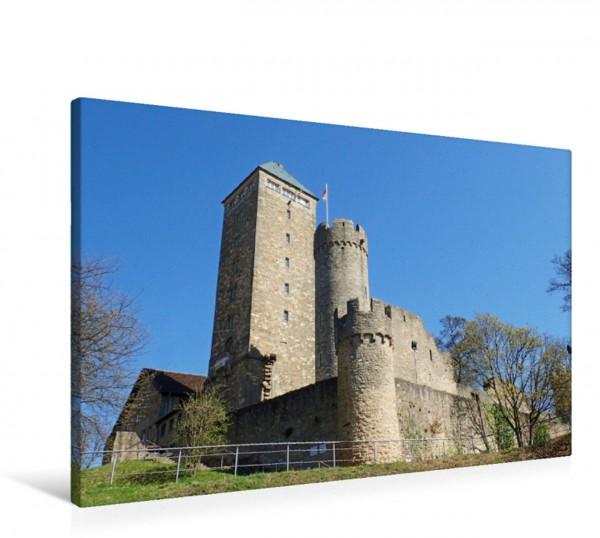 Wandbild Die Starkenburg auf dem Schlossberg in Heppenheim an der Bergstraße