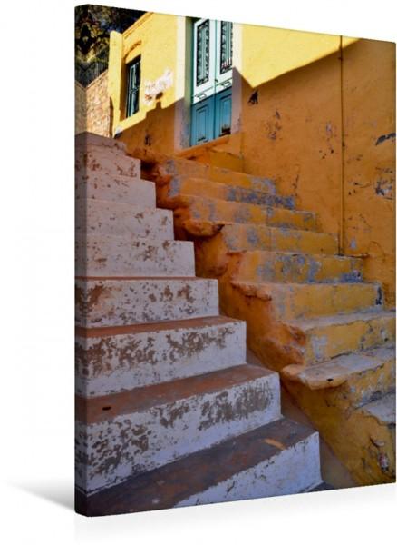 Wandbild Treppen auf Rhodos