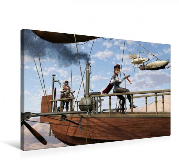 Wandbild Luftschiff Piraten
