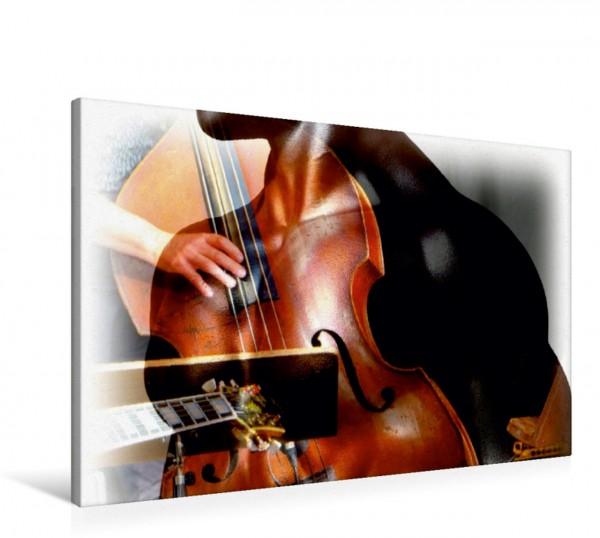 Wandbild Kontrabass mit muskulösem Oberkörper Erotische Bildkomposition Erotische Bildkomposition