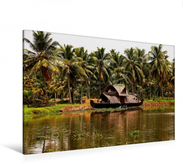 Wandbild Backwaters - Kerala