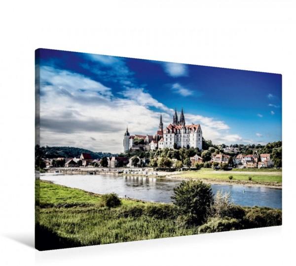 Wandbild Die Albrechtsburg in Meißen Eines der bekanntesten spätgotischen Architekturdenkmäler und gilt als der erste Schlossbau Deutschlands Eines der bekanntesten spätgotischen Architekturdenkmäler