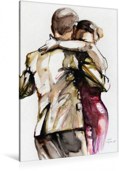 Wandbild Tangopaar N°22, Zeichnung in Mischtechnik Tangokunst von Evelyn Schmidt Tangokunst von Evelyn Schmidt