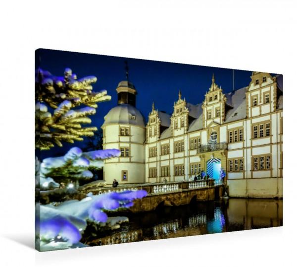 Wandbild Weihnachtszauber im Schlosspark Neuhaus Schloss Neuhaus,Fürstbischöfliche Residenz mit Barockgarten Schloss Neuhaus,Fürstbischöfliche Residenz mit Barockgarten