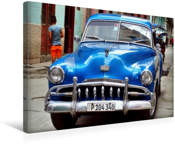 Wandbild US-Oldtimer der Marke DeSoto in Havanna