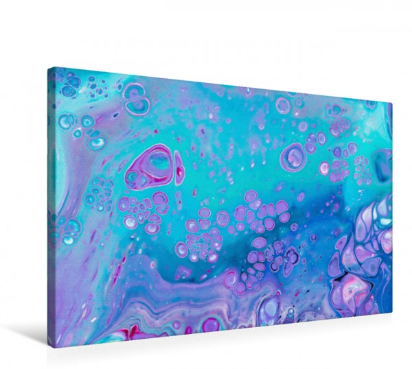 Wandbild Meeresleuchten, Acrylic Pouring, Abstrakte Malerei von Carola Vahldiek Ein farbenfrohes inspiriendes Kunstwerk Ein farbenfrohes inspiriendes Kunstwerk