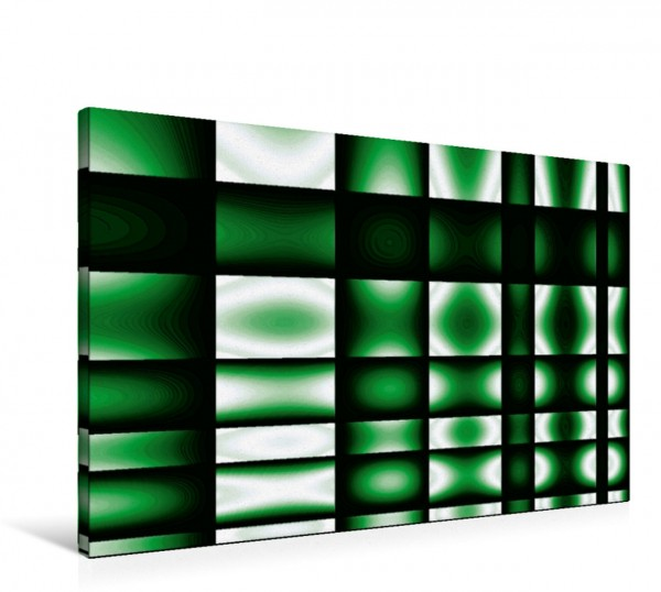 Wandbild glowing green