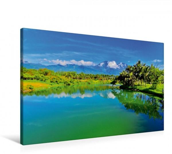 Wandbild Seenlandschaft in Taiwan Einmalige Farben findet man in den Landschaften Taiwans Einmalige Farben findet man in den Landschaften Taiwans