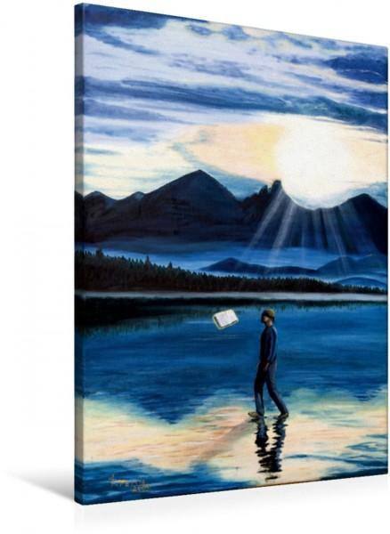 Wandbild Glaube Manchmal befähigt er uns sogar übers Wasser zu gehen. Manchmal befähigt er uns sogar übers Wasser zu gehen.