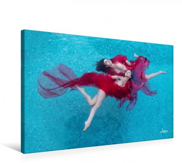 Wandbild Wasserspiele - Akt im Tanz der Schwerelosigkeit